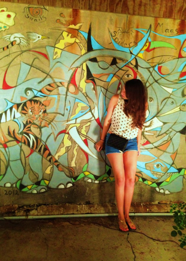 Me posing at a beautiful mural down in Frenchmen street