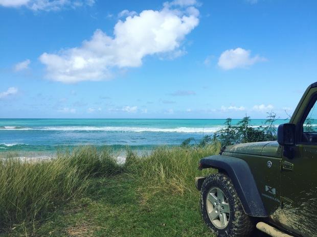 puerto rico jeep beach