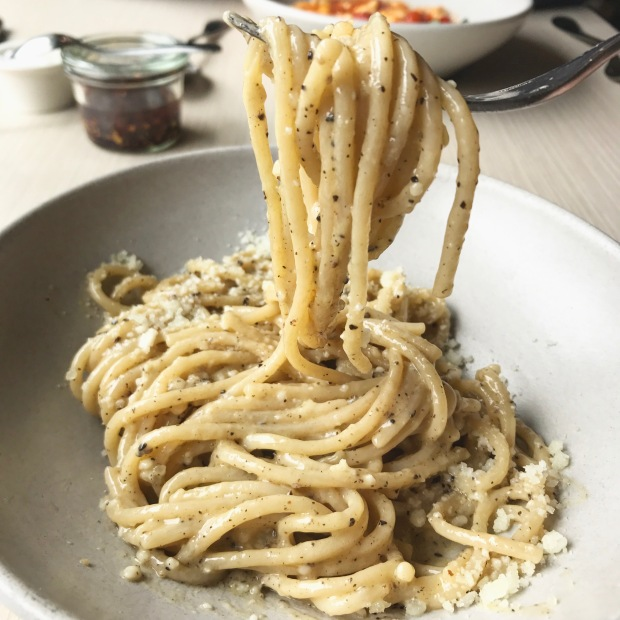 Charlie Bird Cacio e Pepe NYC restaurant Beaches & Brie