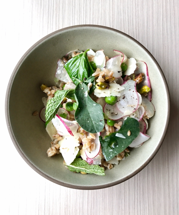 Charlie Bird NYC Farro Salad Beaches & Brie