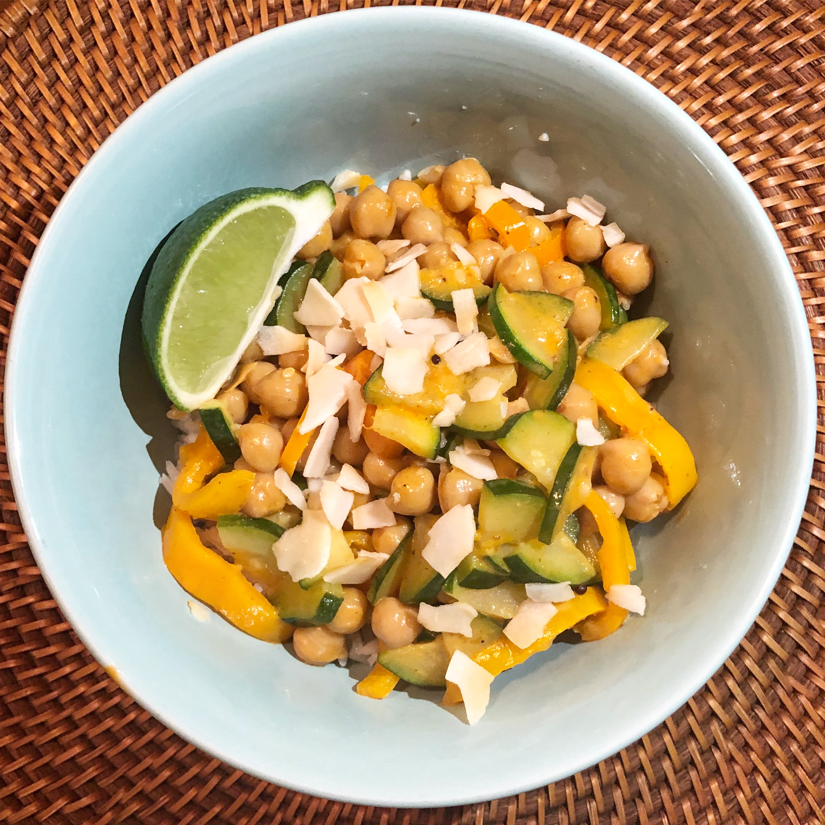 Blue Apron Chickpea Curry Bowl Meal Kit Cristina Nogueras